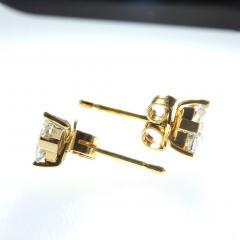 Gemjunky 1 25 Carat Glittering Trillion Diamond Stud Earrings - 1659260