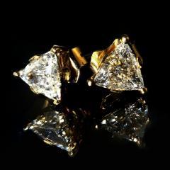 Gemjunky 1 25 Carat Glittering Trillion Diamond Stud Earrings - 1659261