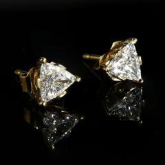 Gemjunky 1 25 Carat Glittering Trillion Diamond Stud Earrings - 1659262