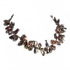 Gemjunky 18 Inch Walnut Maroon Color Keshi Pearl necklace - 1909616