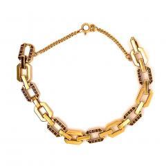 Gemjunky 18K Rich Yellow Gold Diamond Square Link Bracelet - 1701250