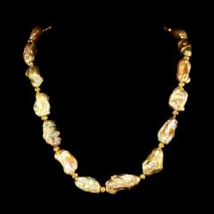 Gemjunky 20 Inch White Baroque Pearl Necklace - 1804229