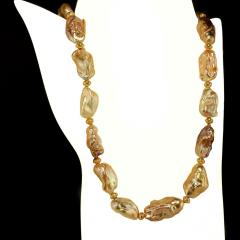 Gemjunky 20 Inch White Baroque Pearl Necklace - 1804230