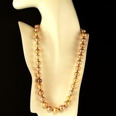 Gemjunky 21 Inch Famed Edison Pearl multi color necklace - 1792393