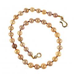 Gemjunky 21 Inch Famed Edison Pearl multi color necklace - 1792395