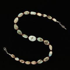 Gemjunky 23 Inch Graduated Larimar necklace - 1959863
