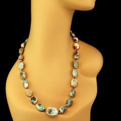 Gemjunky 23 Inch Graduated Larimar necklace - 1959864