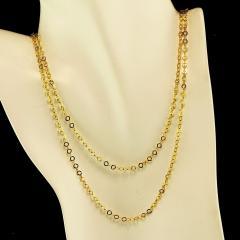 Gemjunky 40 Inch 14K Yellow Gold Sparkling Chain - 2006691