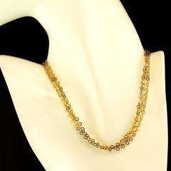 Gemjunky 40 Inch 14K Yellow Gold Sparkling Chain - 2006693