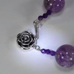 Gemjunky Amethyst Spheres Necklace February Birthstone - 1647374