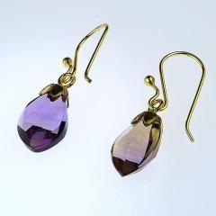 Gemjunky Brazilian Ametrine Earrings on French Hooks - 1991189