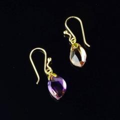 Gemjunky Brazilian Ametrine Earrings on French Hooks - 1991199