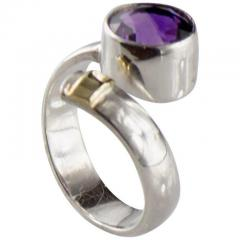Gemjunky Crossover Amethyst and Sterling Silver Ring - 1970538
