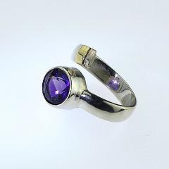 Gemjunky Crossover Amethyst and Sterling Silver Ring - 1970548