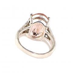 Gemjunky Cushion Cut Morganite in Sterling Silver Ring - 1970529