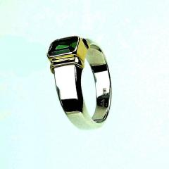 Gemjunky Deep Green Tourmaline in Sterling Silver Ring - 1647334