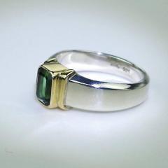 Gemjunky Deep Green Tourmaline in Sterling Silver Ring - 1647336