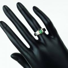 Gemjunky Deep Green Tourmaline in Sterling Silver Ring - 1647338