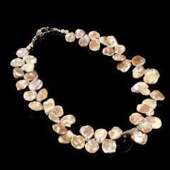 Gemjunky Elegant 19 Inch Iridescent Gray Keshi Pearl Necklace - 1908936