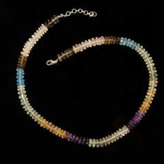 Gemjunky Elegant Multi Color Gemstone necklace - 1949361