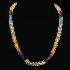 Gemjunky Elegant Multi Color Gemstone necklace - 1949362