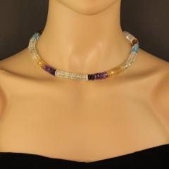 Gemjunky Elegant Multi Color Gemstone necklace - 1949363