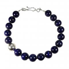 Gemjunky Elegantly Stunning Lapis Lazuli Collar with Pure Silver Focal - 1783251