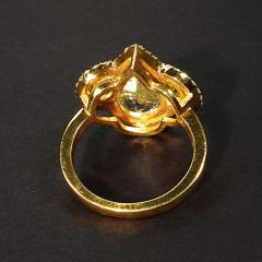 Gemjunky Glittering Dinner Ring of Aquamarine Peridot and Cambodian Zircon - 1659275