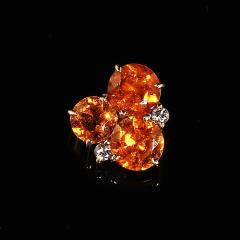 Gemjunky Glittering Pendant of Spessartite Garnet in 18K Yellow Gold - 1708169