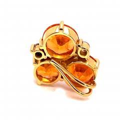 Gemjunky Glittering Pendant of Spessartite Garnet in 18K Yellow Gold - 1708170