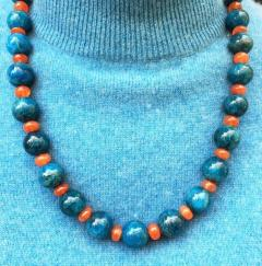 Gemjunky Glowing Apatite and Carnelian Necklace - 1701275