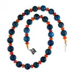 Gemjunky Glowing Apatite and Carnelian Necklace - 1701276
