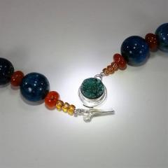Gemjunky Glowing Apatite and Carnelian Necklace - 1701287