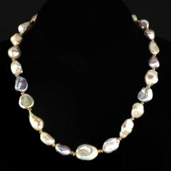 Gemjunky Gorgeous Glowing Iridescent Freshwater Pearl Choker Necklace - 1781532