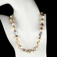 Gemjunky Gorgeous Glowing Iridescent Freshwater Pearl Choker Necklace - 1781562