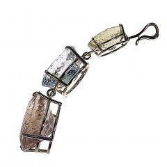 Gemjunky Magnificent Three Beryl Pendant in Sterling Silver - 1647351
