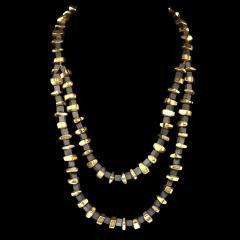 Gemjunky Modernist Black Onyx and Golden Pyrite Necklace - 1792353