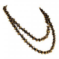 Gemjunky Modernist Black Onyx and Golden Pyrite Necklace - 1792973
