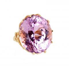 Gemjunky Norris Violet Hue Fine Precious Natural 44 1 Carat Kunzite Gold Cocktail Ring - 1584503
