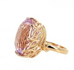 Gemjunky Norris Violet Hue Fine Precious Natural 44 1 Carat Kunzite Gold Cocktail Ring - 1584507