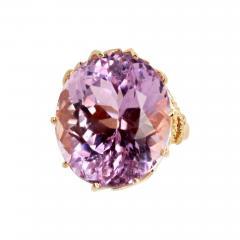 Gemjunky Norris Violet Hue Fine Precious Natural 44 1 Carat Kunzite Gold Cocktail Ring - 1584825