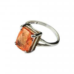 Gemjunky Peach color Imperial Topaz set in Sterling Silver Ring - 1940485