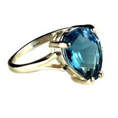 Gemjunky Pear Shape Blue Topaz in Sterling Silver Ring - 1959870