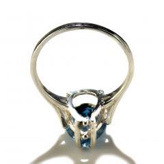Gemjunky Pear Shape Blue Topaz in Sterling Silver Ring - 1959871