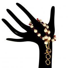 Gemjunky Pearl and Garnet Briolette Choker Necklace - 1792385