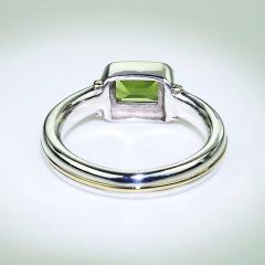 Gemjunky Peridot and Sterling Silver Ring with 18K Gold Accents - 1714929