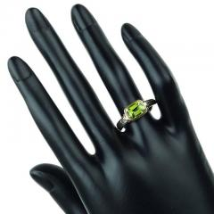 Gemjunky Peridot and Sterling Silver Ring with 18K Gold Accents - 1714933