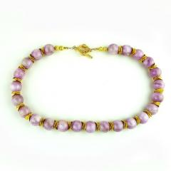 Gemjunky Pink Kunzite with Goldy Accents Necklace - 1792366