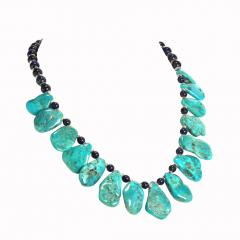 Gemjunky Sleeping Beauty Turquoise Necklace accented with Lapis Lazuli - 1908943