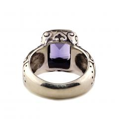 Gemjunky Sparkling Blue Iolite in Sterling Silver and 18K Gold Ring - 1714941